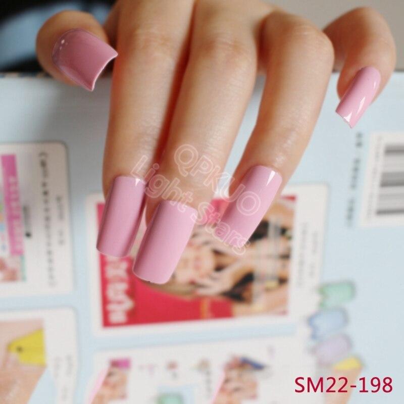 20pcs Candy Color Extra Long False Nail Tips Princess Pink Acrylic ...