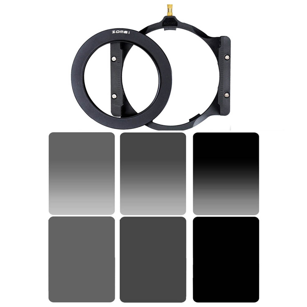 Zomei Square 100mm *150mm  Neutral Density Filter Full Color Grey  ND4 ND8 ND16 Gradient Grey ND 4 8 16 Set for Cokin Z pro. zomei 100mm nd64 square filter hd optical glass 100x100mm 6 stop neutral density nd filter for cokin z lee hitech 100mm holder