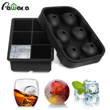 3Pcs/set Ice Cube Trays Silicone Sphere Round Ice Ball Maker & Large Square Ice Cube Mold for Chilling Bourbon Whiskey Cocktail