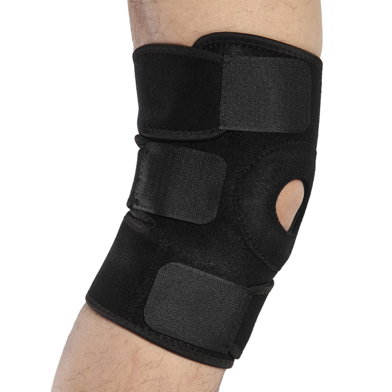 Massager Knee Brace Support -Adjustable Breathable Neoprene Knee Band - Open Patella Knee Arthritis, ACL mymei wrist support carpal tunnel splint arthritis sprains strain hand brace band