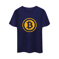 Digital Currency Bitcoin Logo Cotton T Shirt Tee SHIRT T Shirt Short Sleeve Sleeve Men Women