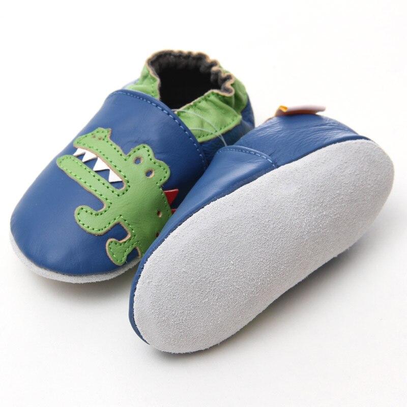 Leder Babyschuhe Krokodil Baby Mokassins Tier Kinder Kleinkind Schuhe - Babyschuhe - Foto 4