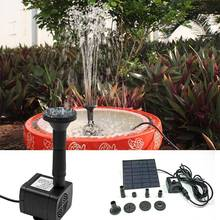 ZINUO Solar Fountain Pump 200L/H Water Pump Solar Powered Mini Fountain Pump For Garden Pool Pond Aquarium outdoor solar powered bird bath water fountain pump for pool garden aquarium pump kit for bird bath garden pond 1set