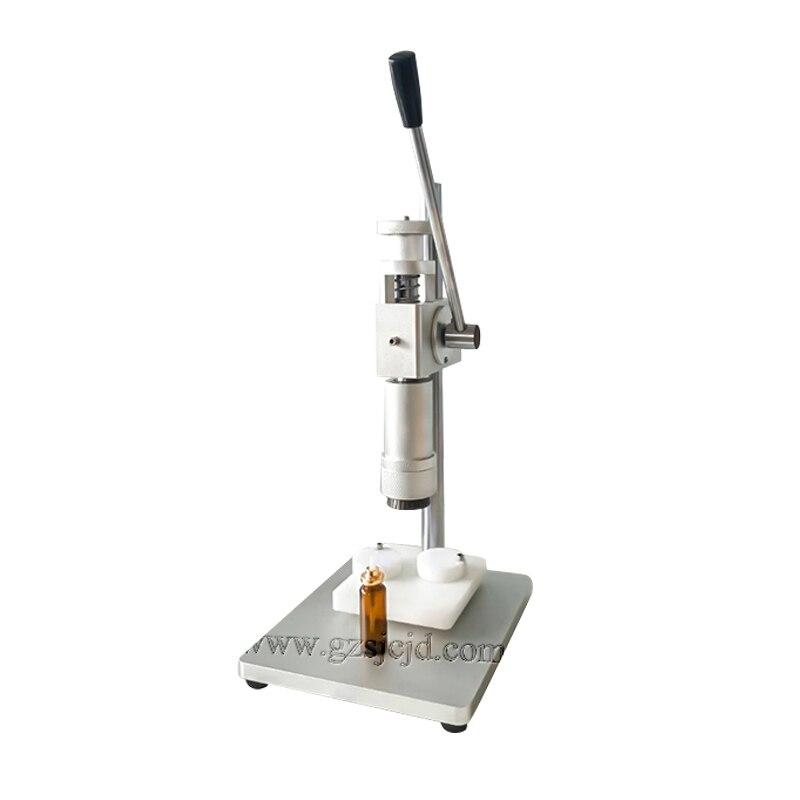 Frete grátis, máquina de friso frasco de perfume a operação manual para 15mm/18mm/20mm pulverizador bombas/bench-top frasco crimper cappress