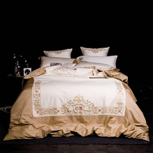 chinese retro style bedding set egyptian cotton silk embroidered bed set 46pcs king queen