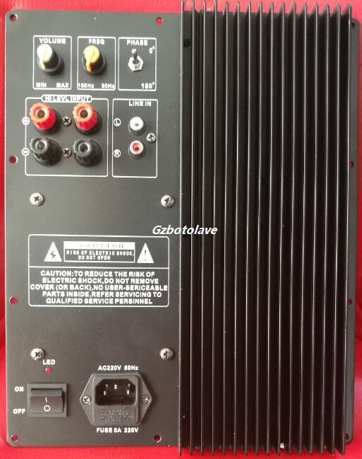300 Вт сабвуфер усилитель доска фильтр низких частот сабвуфер чистый домашний кинотеатр активный сабвуфер усилитель