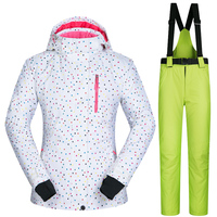 Winter Outdoor Women's Ski Suit Jacket Pant Snowboard Coat Female Snow Wear Camping Windproof Waterproof Thermal Breathable Sets