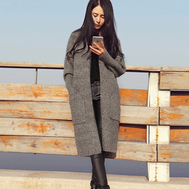 Version of a long paragraph cardigan pocket big long cardigan ...