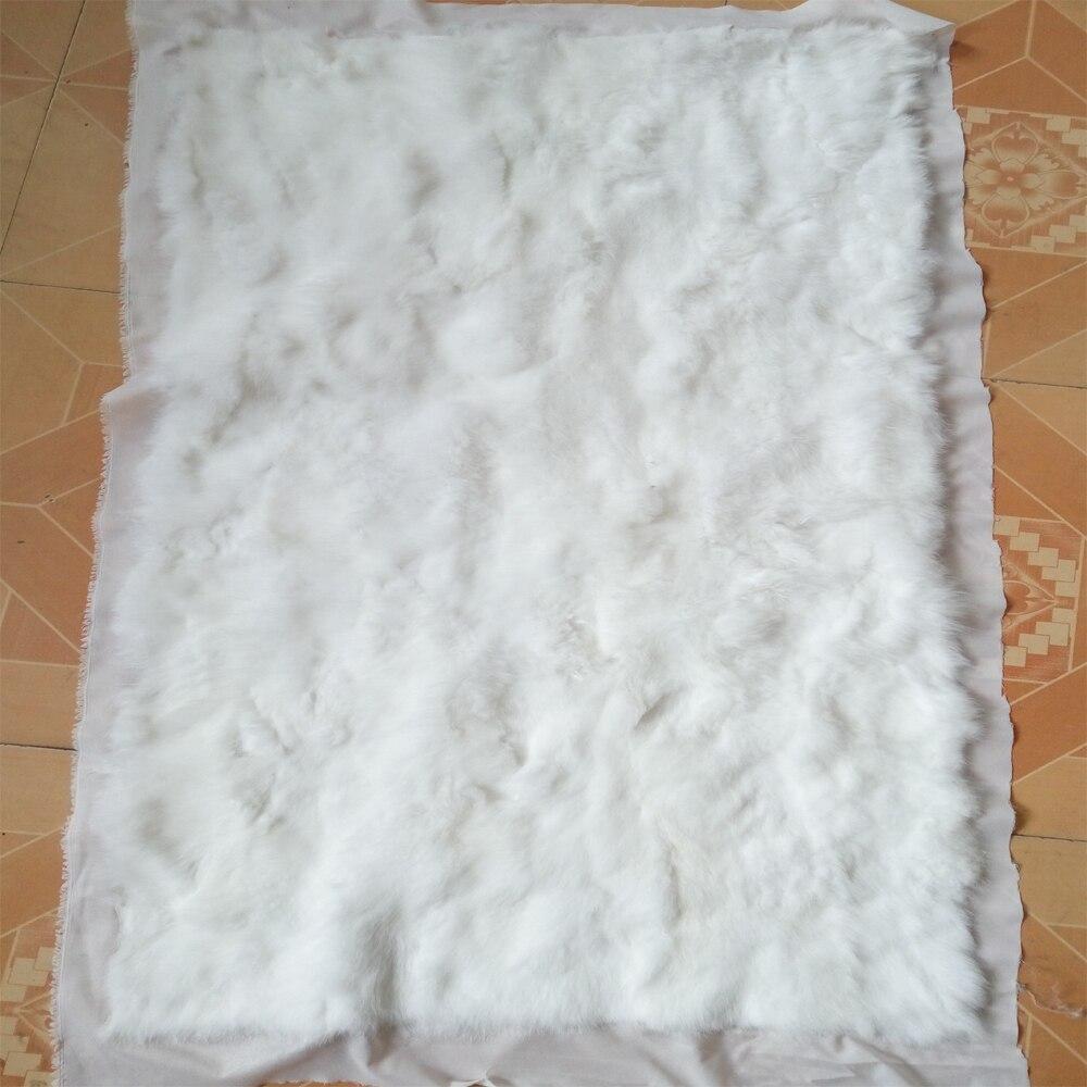 Entertainment Memorabilia Black Rabbit Fur Rugs Dyed Rabbit Fur Blanket Real Rabbit Skin Fur Plate