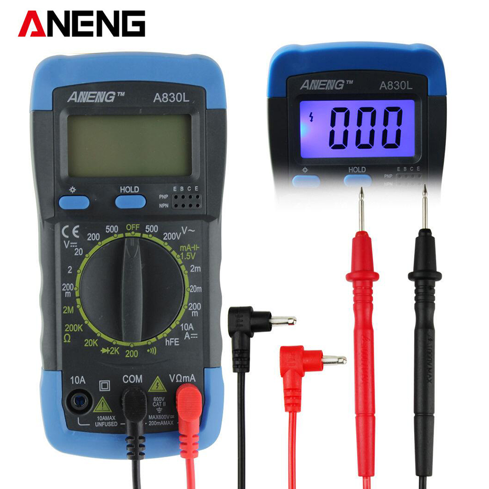 ANENG A830L digital multimeter LCD Digital Multimeter DC AC Voltage Diode Freguency Mini Multitester boneco air o swiss 2055d