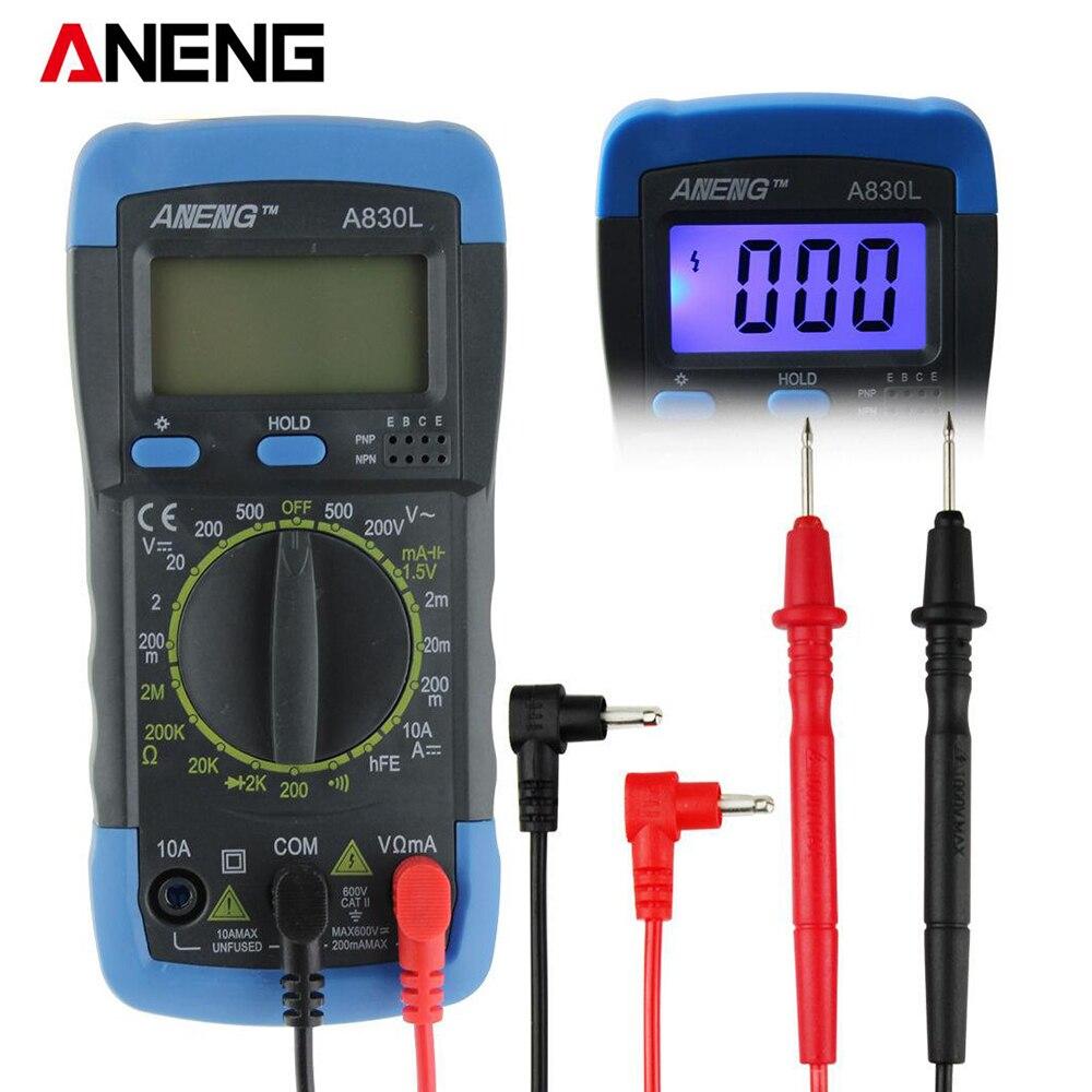 ANENG A830L digital multimeter LCD Digital Multimeter DC AC Voltage Diode Freguency Multitester мультиметр ut61d lcd multitester ac dc