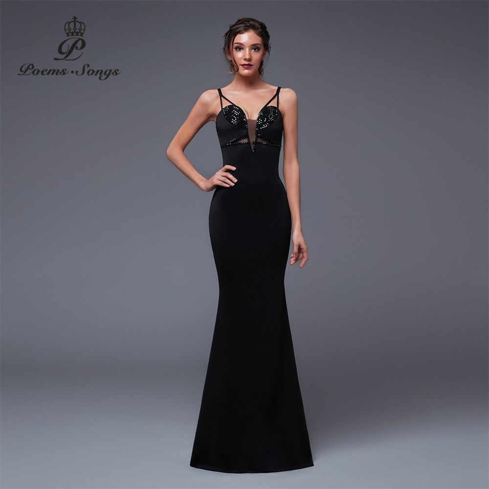 Wiersze piosenki nowa seksowna osobowość syrenka suknia wieczorowa suknia wieczorowa vestido de festa elegancka suknia w stylu Vintage longue