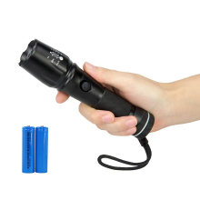 PANYUE XM-L T6 Aluminum Waterproof Zoom Led Flashlight Camping Torch Tactical light 18650 Rechargeable Battery