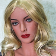 NEW  Arrival WMDOLL  Japan Real Doll Head For SexyDoll Silicone Sex Dolls Oral  Adult doll Tan Skin