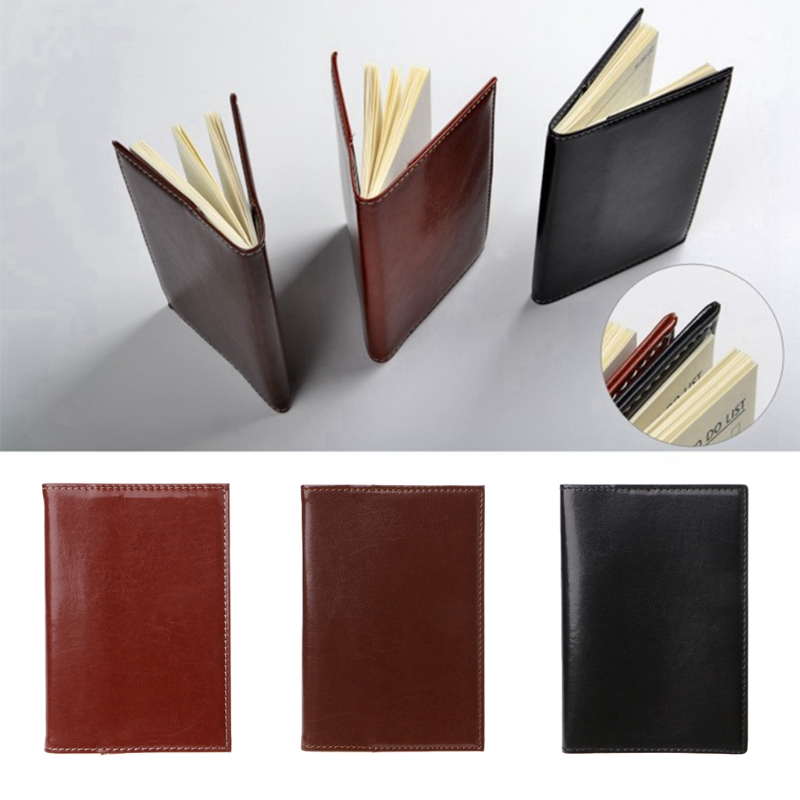 1Pc x Mini Business Notebook Mini Pocket Notebook Portable Journal Diary Book PU Leather Cover Note Pads New