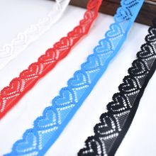10yards/Lot high quality elastic lace trim Embroidery 18mm african fabric white ribbon DIY  Sewing wedding accessories