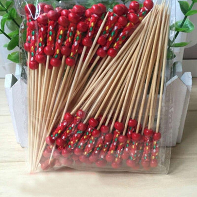 12 cm de Bambú Romántica fruta tenedor Palillos Selecciones de Comida Buffet pri
