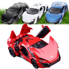 1:32 kids toys Fast & Furious 7 Lykan Hypersport Mini Auto metal toy cars model pull back car miniatures gifts for boys children