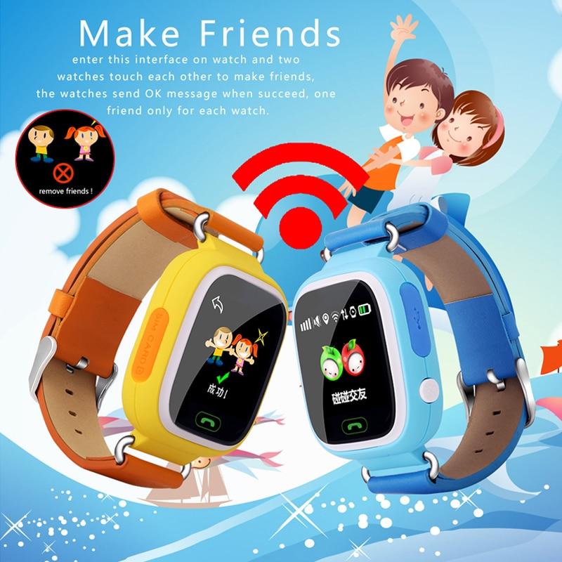 Little Giant Genius Kid GPS Tracker Smart font b Watch b font Colorful Wristwatch SOS Anti