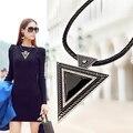 Бесплатная доставка Новый 2015 Жаркие ожерелье Мода Колье ожерелья Подвески треугольник веревку цепи для подарков вечеринка