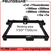 cnc 150*150cm canfix Z kit+15w laser machine PMW TTL control,laser carving machine 5500mw Laser engraver,Laser Engraving Machine