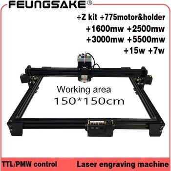Cnc 150*150 см 15 Вт лазерная машина PMW контроллер ТТЛ, 7 Вт устройство для лазерной резки 5500 МВт лазерный гравер, лазерная гравировальная машина 1,5 ...