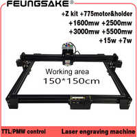 cnc 150*150cm 15w laser machine PMW TTL control,7w laser carving machine 5500mw Laser engraver,Laser Engraving Machine 1.5m area