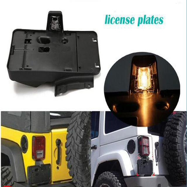 Rear License Plate Bracket Holder With Light Fit for Jeep Wrangler JK 68064720AA