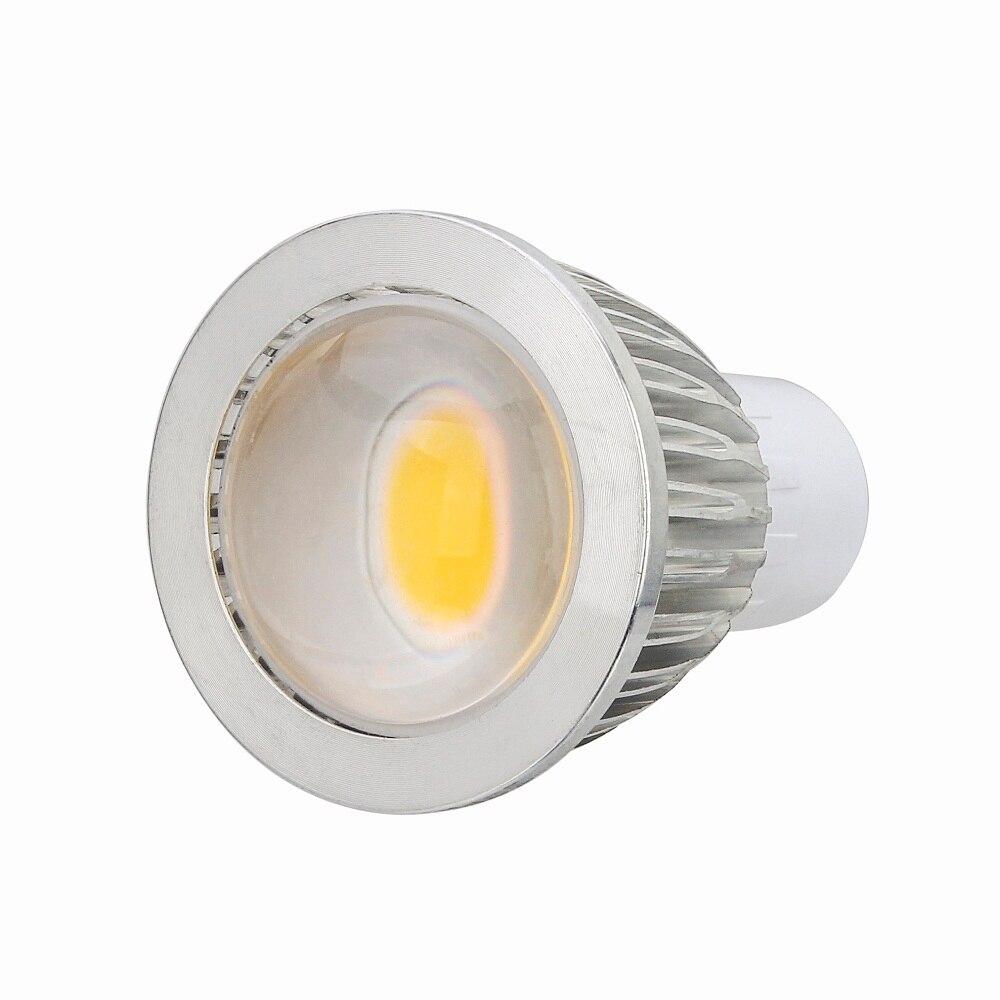 50Pcs 5W LED Light MR16 220V 110V Spot Lamp Warm White Energy Saving Spotlight COB MR16 GU5.3 LED Bulbs