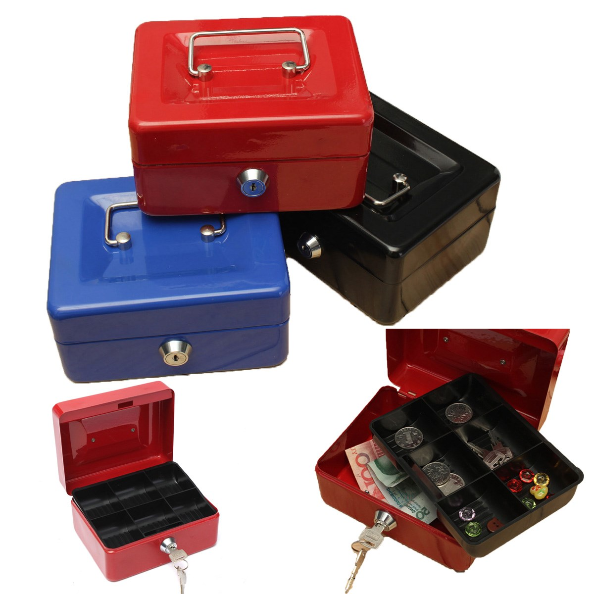 Well-known Best Price Stainless Steel Petty Cash Money Box Security Lock  YP43