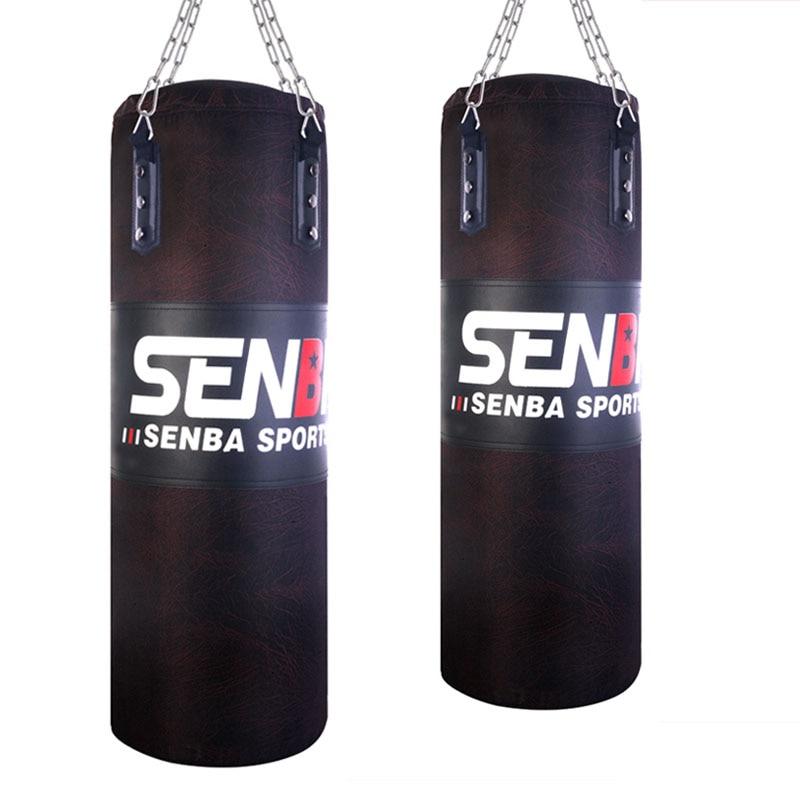 120 cm Noir PU Coup sac de boxe De Sacs De Sable Pour Adultes MMA Muay Thai Taekwondo Sport Fitness Formation équipement de Sport