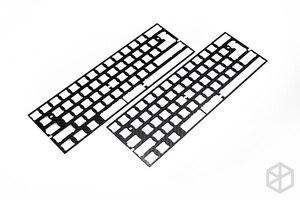 Image 2 - 60% الألومنيوم الميكانيكية لوحة المفاتيح لوحة من ألياف الكربون دعم xd60 xd64 3.0 v3.0 gh60 دعم انقسام المسافة 3u المسافة