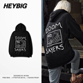 doomsayer Dark High street Youth Hoodies 2016 Dec HEYBIG New Sweatshirts Men Winter fleece warm hip hop Tracksuits Chinese Size!