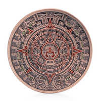 The Mayan Aztec Long Count Calendar Red Bronze Commemorative Coin Art Collection Home Decor