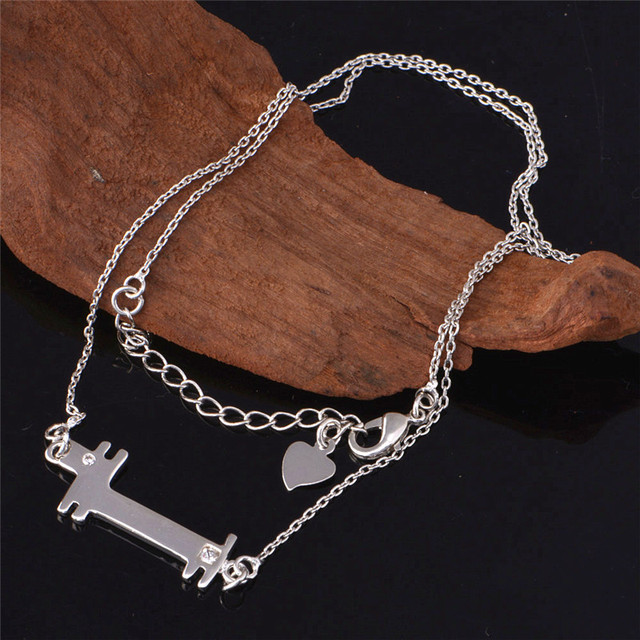 Mujer Silver Jewelry Fashion Trendy Cute Dog