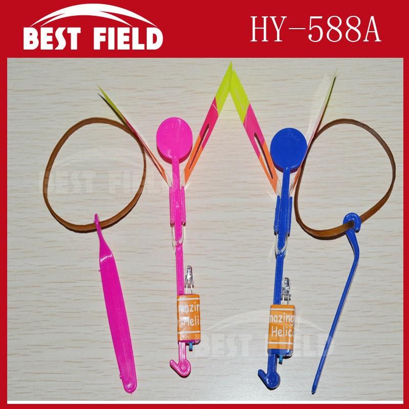 free shipping 200pcs/lot make LOGO blue light LED Amazing arrow helicopter Flying umbrella arrow helicopter kid toy