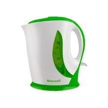 Чайник электрический Maxwell MW-1062 G (Мощность 2200 Вт, объем 1.7 л, нейлоновый фильтр, индикатор включения, вращение 360°)