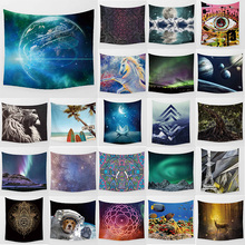 Unicorn earth tapestry dog eyes  wall hanging home decoration large rectangle bedroom