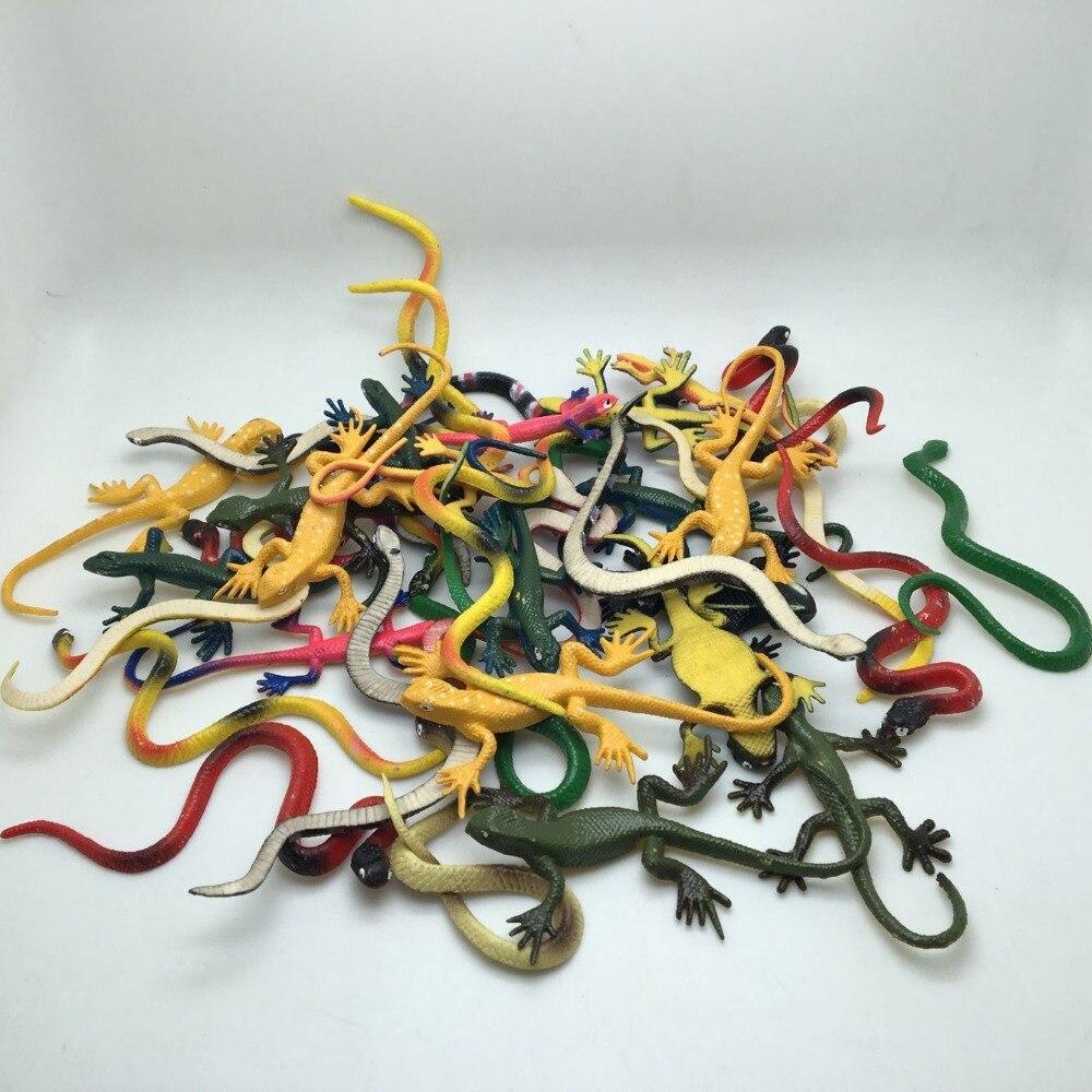 20 UNIDS / LOTE serpiente de plástico pvc lindo y gecko Mix - Nuevos juguetes y juegos - foto 3