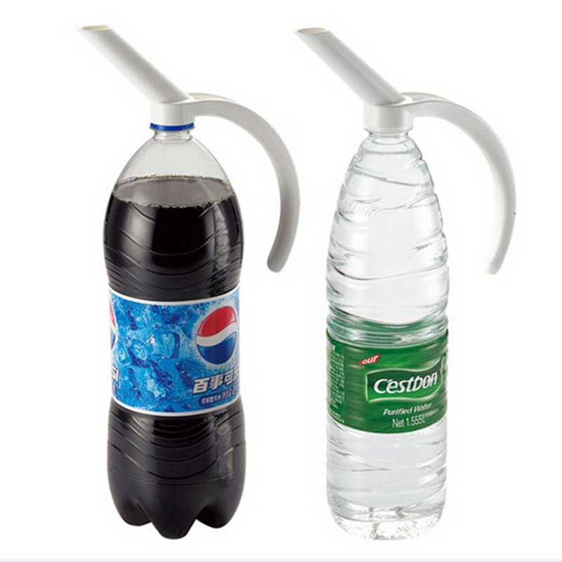 buy 2pcs creative plastic bottled beverage handle soda coke dinnerware water dispenser bottle spout bottle handle beverage dispenser from