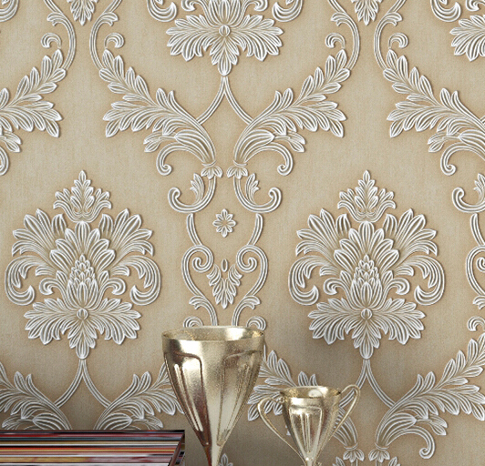 Moistureproof mildew zero formaldehyde Non-woven wallpaper european-style bedroom living room TV setting wall paper study 3d european non woven wallpaper wall stickers bedroom living room tv setting wall paper wallpaper the sand classic stripes european