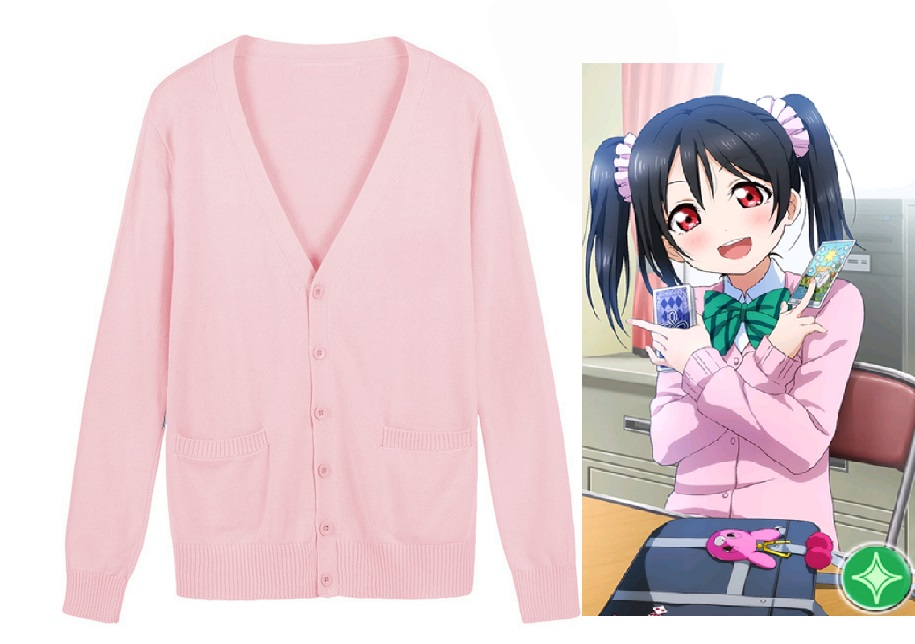Love Live Cosplay Costume Lovelive Nico Yazawa Sweater Japan School Uniform Niko Cardigan Sweaters Free Shipping