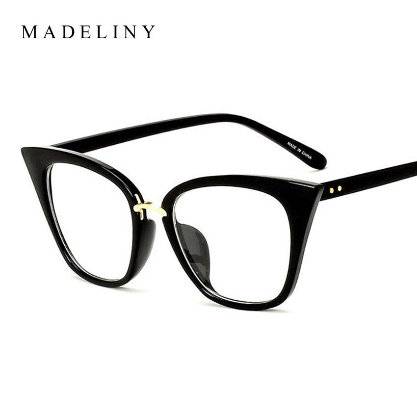 MADELINY New Fashion Cat Eye Sunglasses Women Brand Designer Clear Lens Sun Glasses Women UV400 MA480
