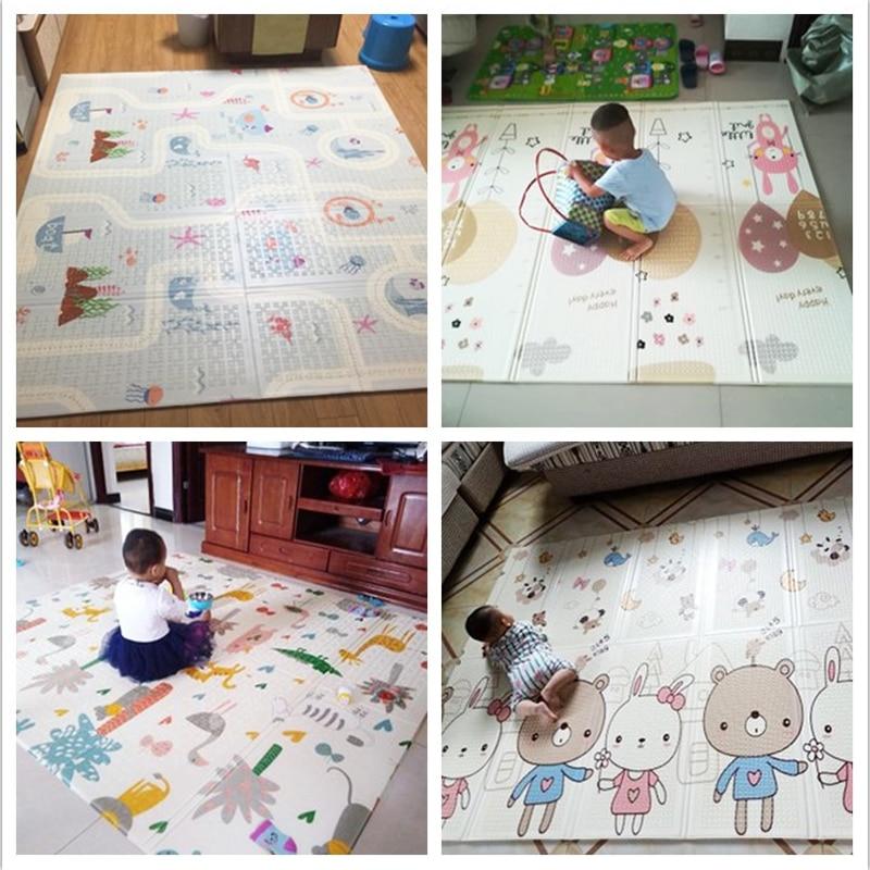 Infantile brillant 200*180*1 cm pliable bébé tapis de jeu écologique XPE enfants Playat Cartton tapis antidérapant tapis de salon - 6
