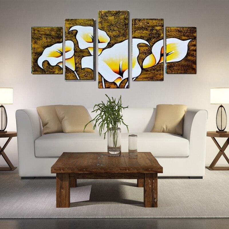 ᐊNo enmarcado 5 paneles arte de la pared pintura de la lona ...