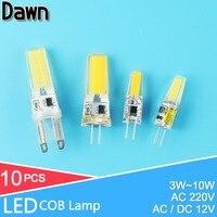 10Pcs Mini G4 LED G9 LED Lamp AC220V DC12V SMD2835 4W 5W 6W 7W Dimmable Lampada