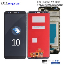 For Huawei Y7 2018 Pro Prime LCD Display Touch Screen Digitizer Assembly Replacement With Frame