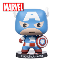 Disney Marvel Cute Cartoon Captain American Iron Man Action Toys Figures for Boys Children Adult Room Car Decor Colloection Gift