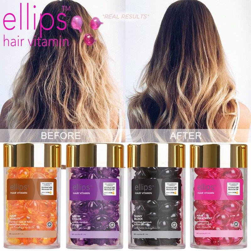 50 pçs elipes cabelo vitamina queratina complexo óleo suave seda máscara de cabelo reparação danificado soro de cabelo marroquino óleo anti perda de cabelo agente