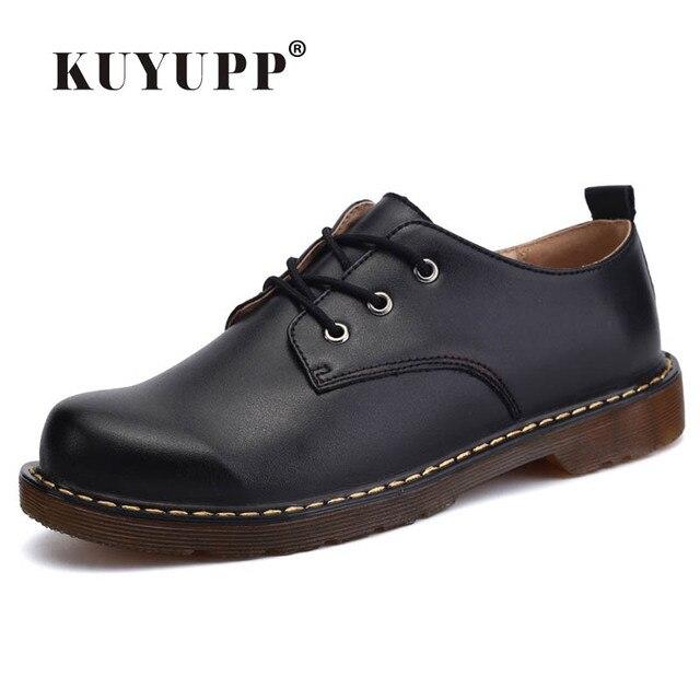 KUYUPP Мода Англия Неподдельной Кожи Женская Обувь Квартиры Оксфорды Случайные Женская Обувь Узелок Круглого Toe размер Обуви 35-44 PX128